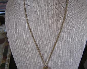 Vintage Endura Time Gold Tone Watch Pendant Necklace