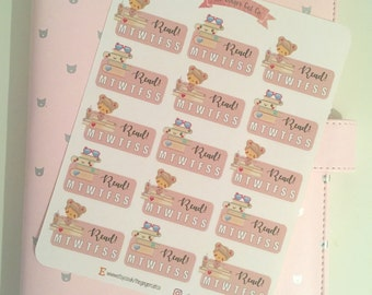 Reading Tracker Stickers | Planner Stickers, Journal Stickers, Scrapbook, Bullet Journal, ECLP, Bullet Journal Stickers