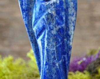 Large Lapis Lazuli Hand Carved Angel Sculpture - 1030.66
