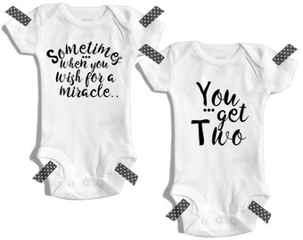 Twins - Twin boys - Twins baby gifts - Twins outfits - Twin outfits - Twin girls - Boy girl twin outfits - Twin clothing - Twin babies