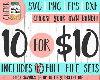 Custom Bundle svg dxf eps png Files for Cutting Machines Cameo Cricut - Choose Your Bundle SVG, Bundle Cutting Files, Customized