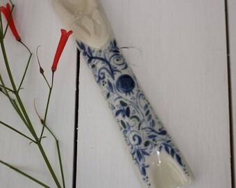 Mezuzah, ceramic mezuzah, judaica art, mezuzah case, new house gift, wedding gift, jewish art, jewish gifts, hand painted mezuzah