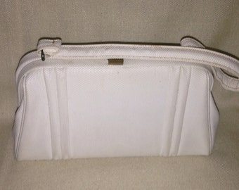 Vintage White Textured Purse