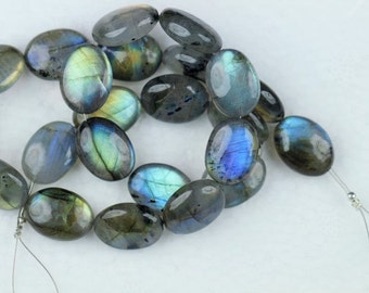 23 piece smooth LABRADORITE oval beads 15.3 -- 15.6 mm approx