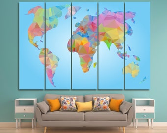 Abstract world map  Etsy