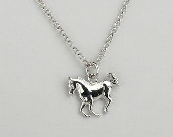 Horse Necklace, Arabian Horse Jewelry, Arabian Necklace, Horse's Lower, Birthday Gift, Made in  Italy, Italian Jewelry, Gift 1272
