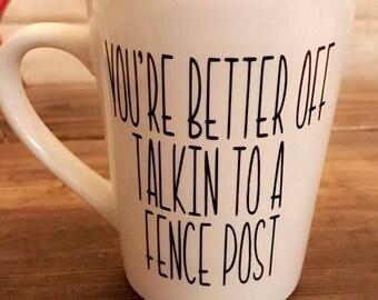 Fence post mug