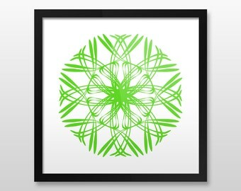 "Mandala Wall Art, Elegant, Framed Print, 8 colors, 10x10"", 12x12"", 14x14"", 16x16"", 18x18"""