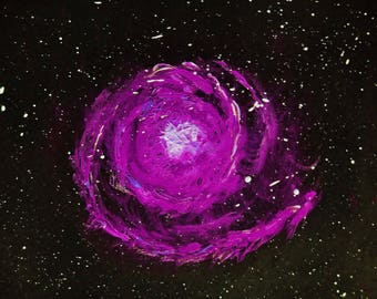 Spiral Nebula - Purple, Fine art Print, Digital Print, Abstract Print