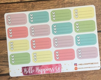 Checklist Stickers - Planner Stickers - Functional Stickers