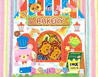 Bakery bears sticker sack - kawaii sticker sack - Crux - sticker flakes