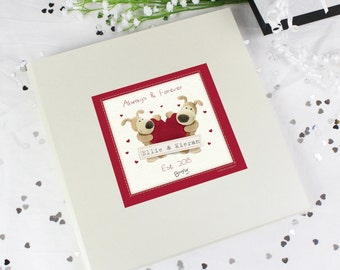 Personalised Boofle Heart Album with Sleeves