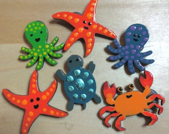 Sea Creatures - Magnets/Badges