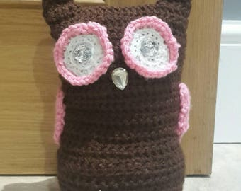 Brown and Pink Owl Doorstop.