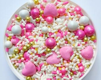 Edible Sprinkles - Sweetheart Sprinkle Mix - 8 oz