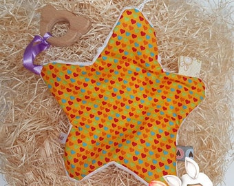 Star blankie with rattle