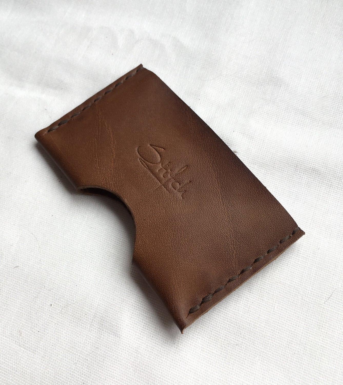 leather card holder minimalist wallet leather card sleeve