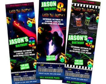 laser tag party invitation
