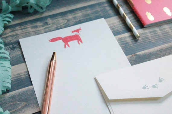 Cute Fox Letter Writing Set | Writing Paper | Stationery Gift Set | Gift For Her | Tween Girl ...