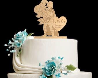 Cake topper,star wars cake topper,little mermaid wedding,little mermaid cake topper,Star Wars Wedding Cake Topper,darth vader,5672017
