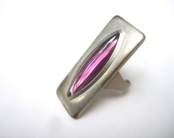 Sleek Danish Modern Ring Designed by Jorgen Jensen c 1970