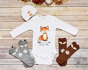 Newborn Take Home Outfit, Baby Boy Clothes, Baby Shower Gift, Fox Onesie®, Baby Onesie®