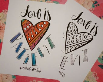 Love is Patient... Cardstock Print!