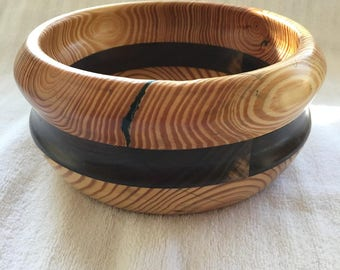 Beautiful Layered Pine and Walnut Bowl