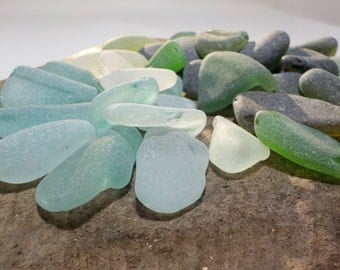 35 pcs bulk smoothed Large and Thick Genuine Sea Glass-Craft Quality  curved Sea Glass -Pendant size- For Jewelry-Glass Home Decor#324#