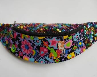 The Cosmic Disco Dancer Sequin Bum Bag