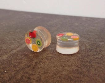 "ear plugs 14 mm spacers: 9/16 ""resin fruit"