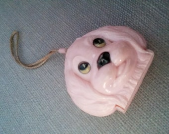 Girl's purse, pink puppy, 1950s