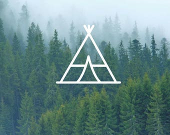 TeePee Decal / Nature Decals / Laptop Decals / Car Decals / Computer Decals / MacBook Decals / Window Decals
