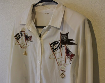 Vintage Embroidered Button Up