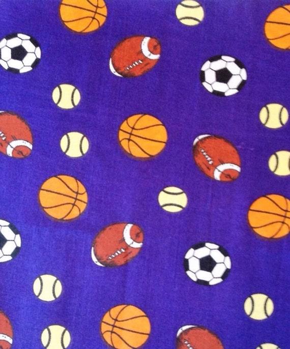 Sports basketball football baseball soccer team school for Novelty children s fabric
