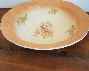 Vintage yellow floral bowl, Floral Dish