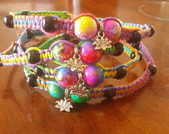 Rainbow Cosmic Hemp Anklets