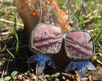 Dendritic Rhyolite Earrings
