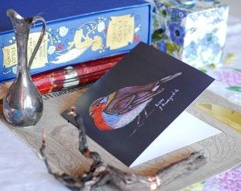 Robin Greeting Card, Robin Art Card, Cute Bird Card, British Bird Card, Garden Bird Card, British Robin Greetings Card