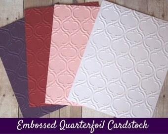 Embossed Quarterfoil Cardstock/ Embossed Cardstock/ Quarterfoil Cardstock/ Quarterfoil/ cardstock/ fancy embossed cardstock/ embossed paper