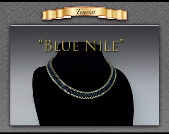 "Tutorial/Pattern for ""Blue Nile"" with matching earrings"