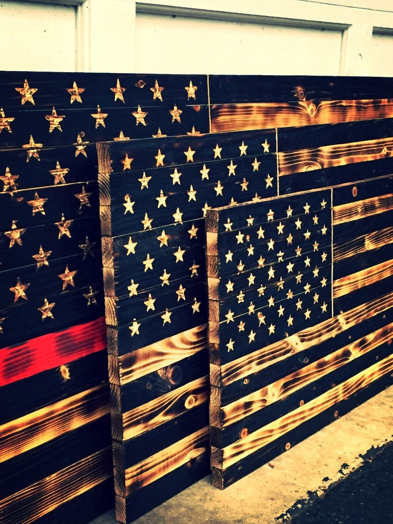 Red Line American Flag >> Thin Red Line Wooden Flag Firefighter Flag Thin by ...