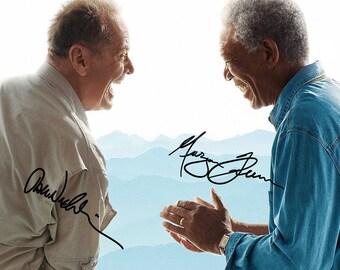 The Bucket List (Jack Nicholson & Morgan Freeman) pre signed photo print poster - 12x8 inches (30cm x 20cm) - Superb quality