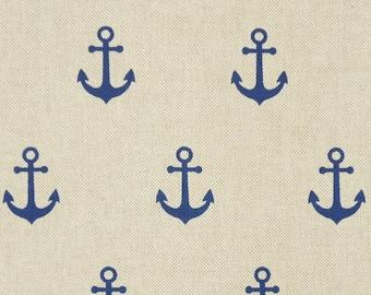 Anchor ca 3cm maritim - blue nature - one cotton mix - bag fabric or curtain fabric