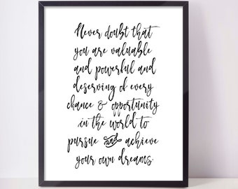 To all the little girls,  never doubt that, motivational quote, Hillary Clinton quote, Hillary quotes, nasty woman, feminist, I'm with her