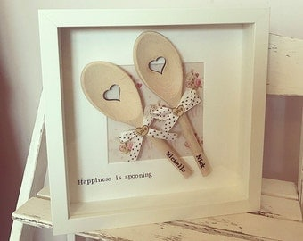 Personalised Spooning Frame, Valentines Gift, Anniversary Gift, Wedding Gift, Gift For Couple