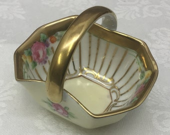 Hand painted Noritake trinket basket from 1918