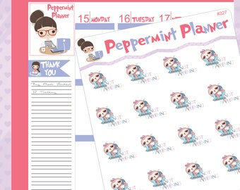Not Happening Sloth Planner Stickers #327