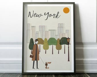 New York Wall Art, New York Poster, Travel Print, Prints, Wall Art, New York Print, Modern Print, Wall Art Print, New York Art, New York