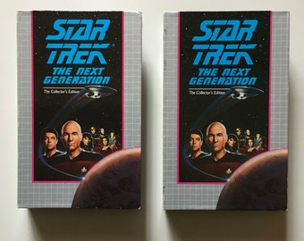 Star Trek TNG VHS Two Tapes 1990s The Next Generation Authentic Vintage